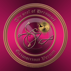 Grimorium Verum中描述了惡魔Heramael,這是他的印章。