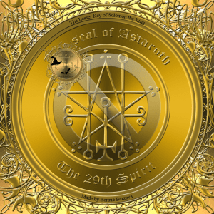 Demon Astaroth is described in the Goetia and this is his seal.