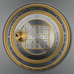 Detta är Saturnus andra femtakt (hebreisk text).