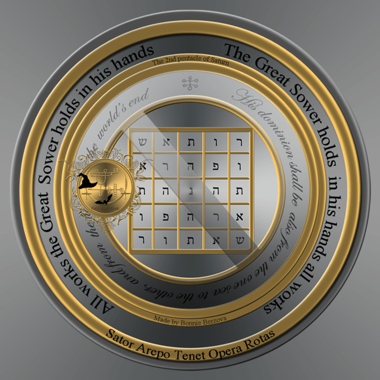The second pentacle of Saturn