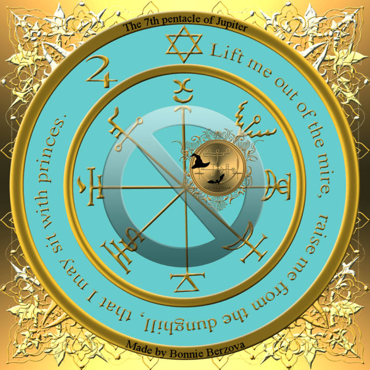 This is the seventh pentacle of Jupiter