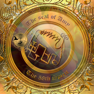 Amy is described in the Goetia and this is his seal.