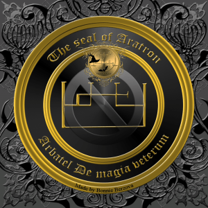 The Olympic spirit Aratron is described in the Arbatel and this is his seal.