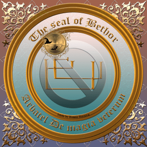 The Olympic spirit Bethor is described in the Arbatel and this is his seal.