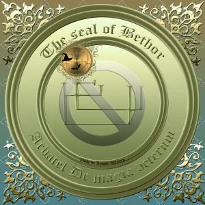 Den Olympiske Guden Bethor beskrivs i Arbatel De magia veterum och detta är hans sigill.