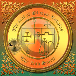 Demon Glasya Labolas is described in the Goetia and this is his seal.