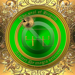 The Olympic spirit Hagith is described in the Arbatel and this is his seal.