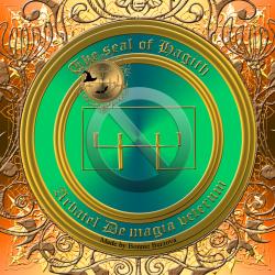 Olympic spirit Hagithは、Arbatelで説明されています。これが彼の印章です。