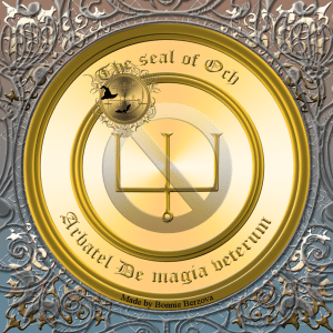 The Olympic spirit Och is described in the Arbatel De magia veterum and this is his seal.