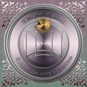 올림픽 정신 Phul은 Arbatel De magia veterum에 묘사되어 있으며 이것이 그의 인장입니다.