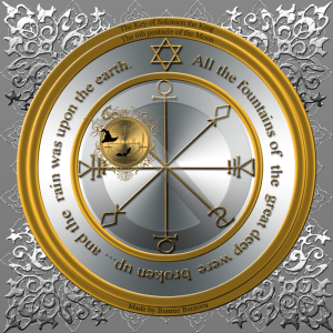 This is the 6th pentacle of the Moon from the Clavicula Salomonis.