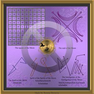 """Der planetarische Talisman des Mondes wird in """"Drei Bücher der okkulten Philosophie"""" von H. C. Agrippa beschrieben."""