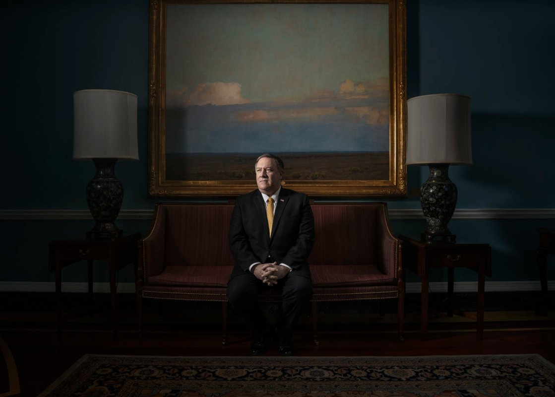 United States Secretary of State Mike Pompeo sits for a portrait at the State Department in Washington DC on Feb. 1, 2019. Photo by Adam Ferguson for The New York Times Magazine