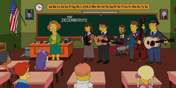 """Watch the Decemberists on """"The Simpsons"""""""