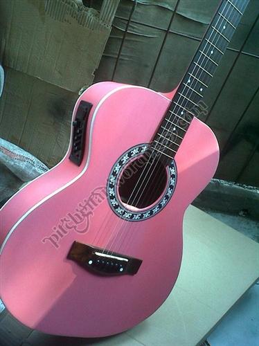 Gitar Akustik Pink  pitchmusik jual gitar jakarta dan kudus