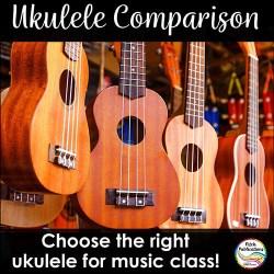 Ukulele Comparison for Music Class