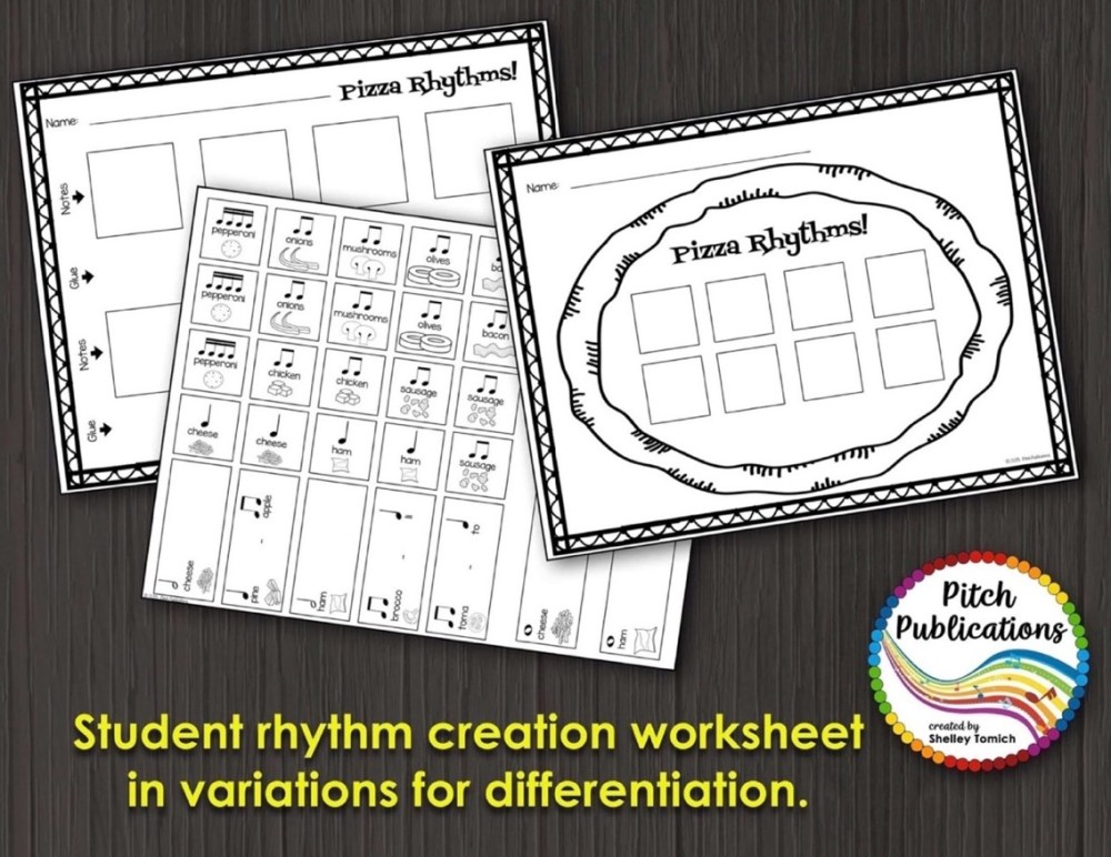 medium resolution of Music Composition Lesson Plan on Pizza Rhythms
