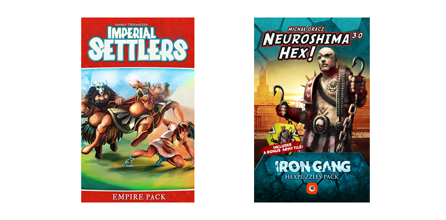 Imperial Settlers: We Didn't Start the Fire i Neuroshima Hex: Iron Gang Hexpuzzle Pack