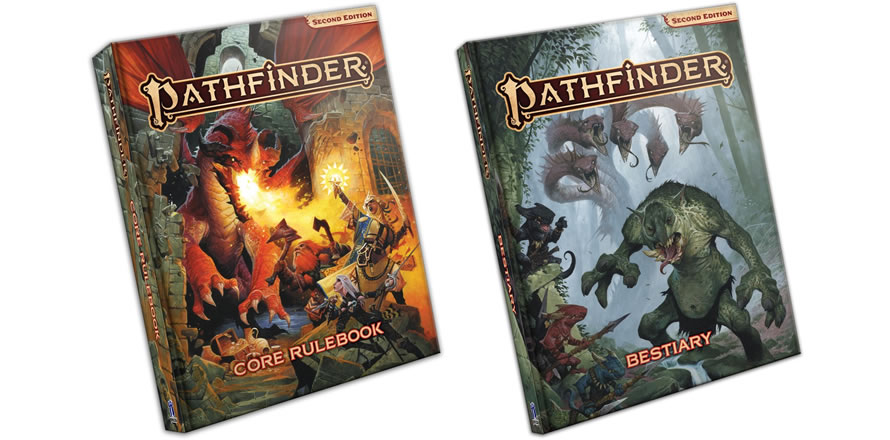 Pathfinder Second Edition Core Rulebook i Bestiary