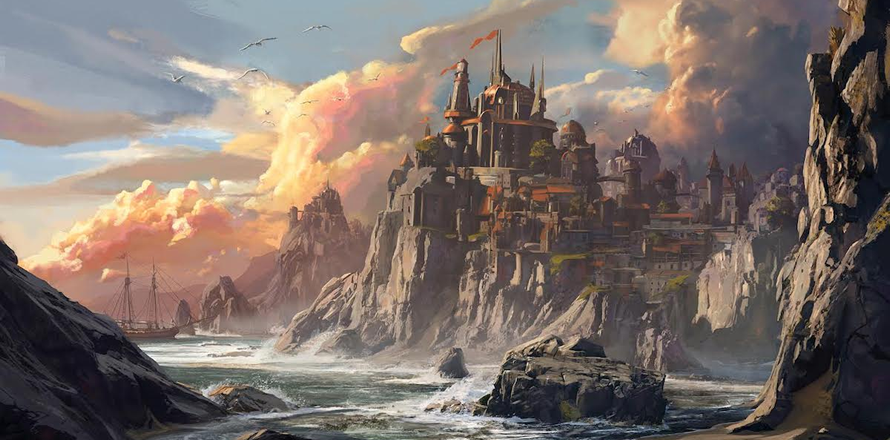 Neverwinter Seascape (art by Jedd Chevrie)r