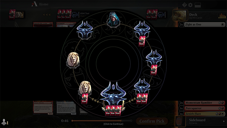 Magic the Gathering: Arena - Pozicija pakovanja karata
