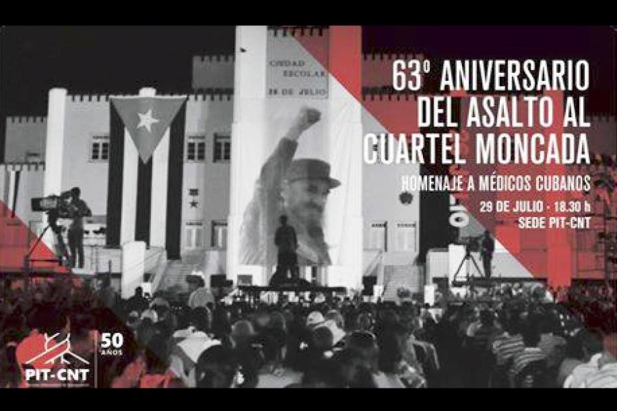 Homenaje del movimiento sindical a médicos cubanos