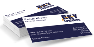 Printing business cards in erbil pit designs printing business cards bky logistics business card reheart Image collections
