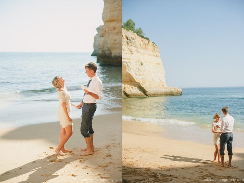 Beach Elopement Algarve Portugal
