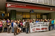 Cadena contra los deshaucios del Banco Popular