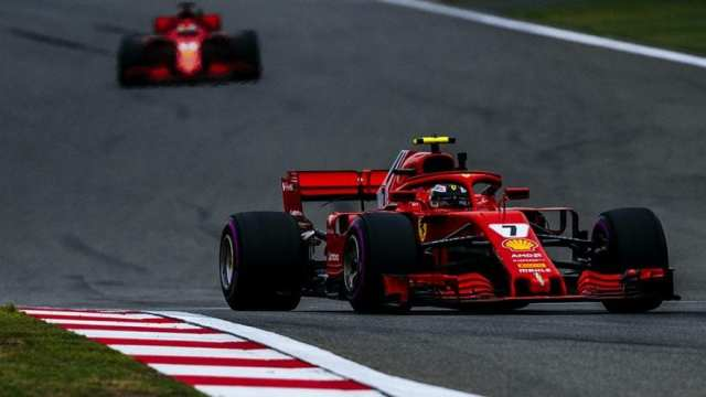 Kimi Räikkönen durante  los entrenamientos libres del GP de China.   Foto: Ferrari