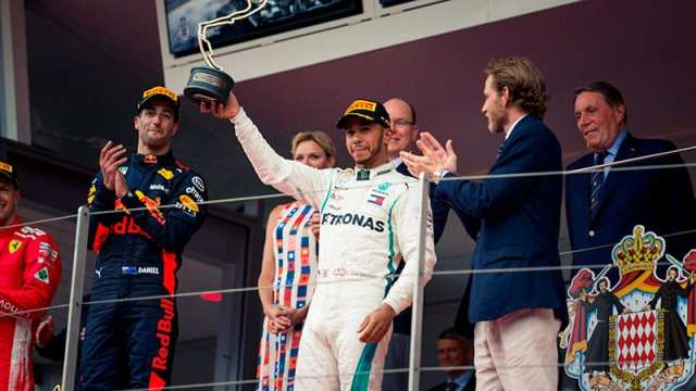 Hamilton finaliza tercero en Mónaco