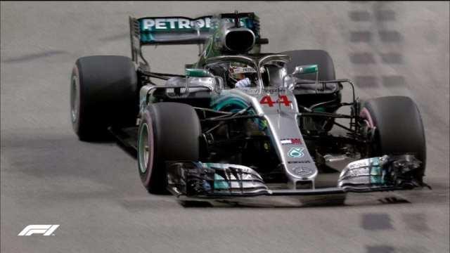 Hamilton consigue la pole en el GP de Singapur
