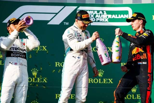 Podio del Gran Premio de Australia 2019.