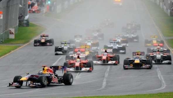 Salida GP Australia 2010