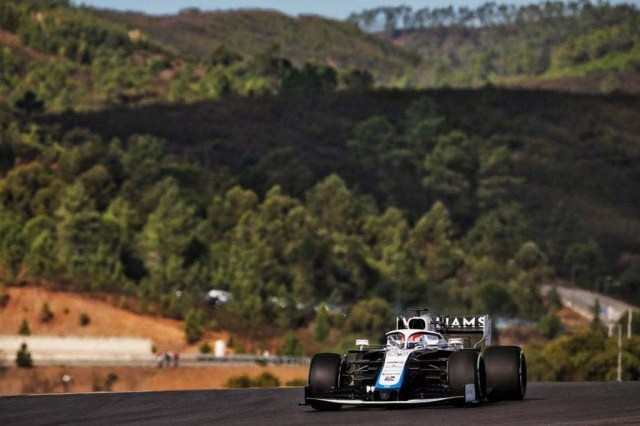 George Russell (GBR) Williams Racing FW43. Portuguese Grand Prix, Friday 23rd October 2020. Portimao, Portugal.