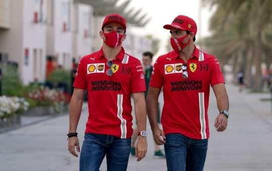 Charles Leclerc y Carlos Sainz - Ferrari