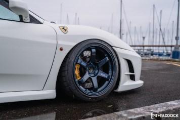 Modified Ferrari F430 Wears Volk Racing TE37 Wheels Flawlessly