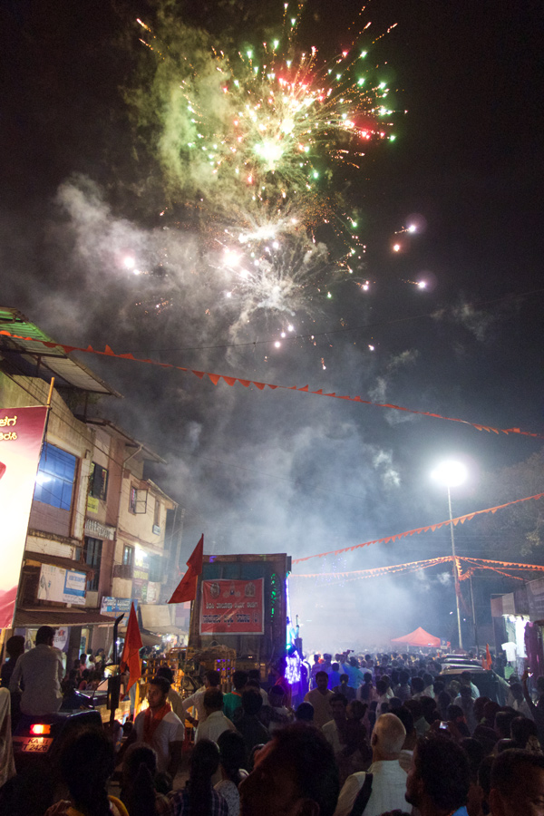 Pit Productions Fireworks at Festival in Sirsi India