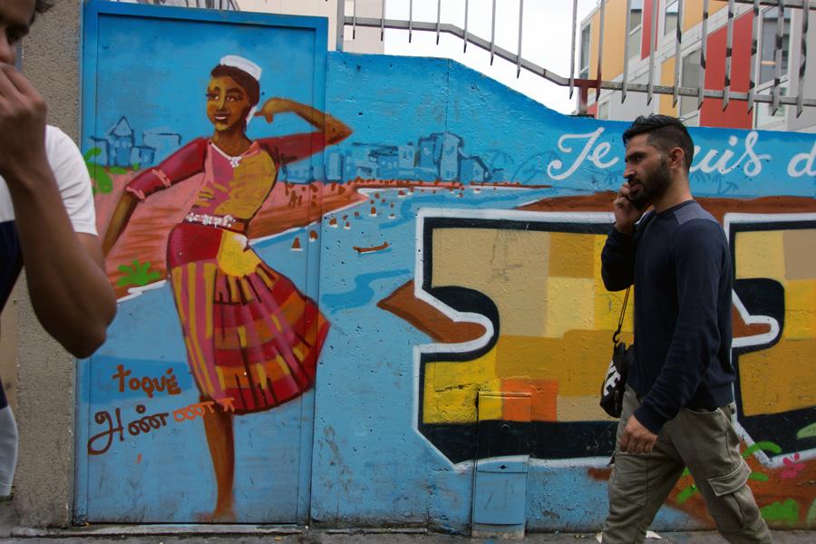 Pit Productions Two Men at Mural Burgos Spain