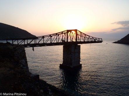 Loading bridge at Mega Livadi