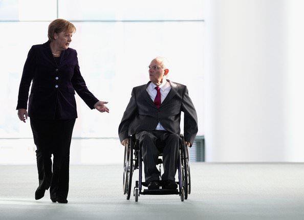 Wolfgang+Schaeuble+Merkel
