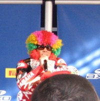 Noriyuki Haga, being a clown