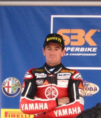 Troy Corser, not amused