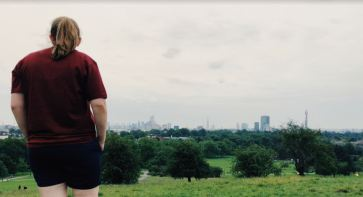 Admiring the view at the top of Primrose Hill