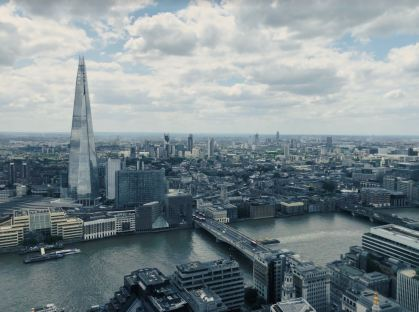 The London skyline from the Sky Garden