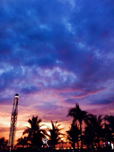 Sunset at Seaside Mall of Asia, Pasay City, Philippines
