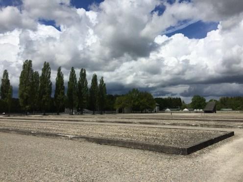 Remaining foundations of demolished barracks