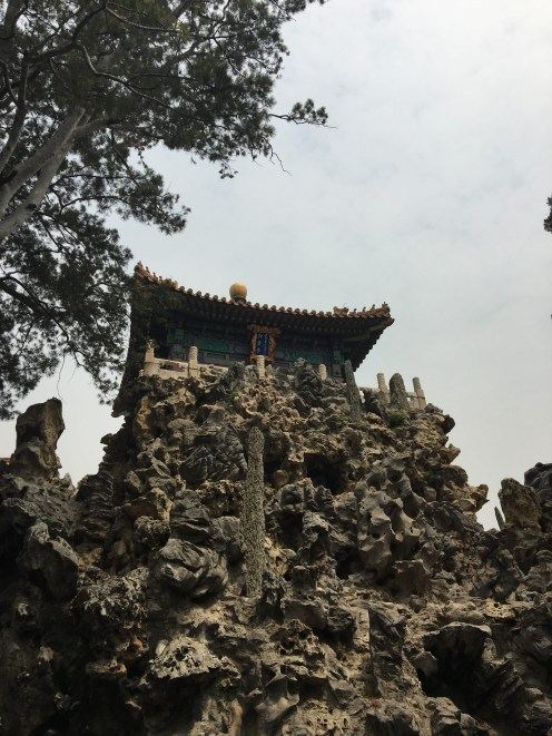 Temple perched on largest rockery