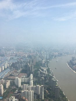 Huanpu River to the right