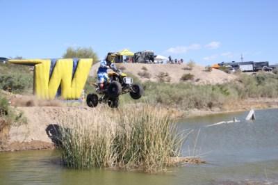 Dillon Zimmerman over the lagoon jump.